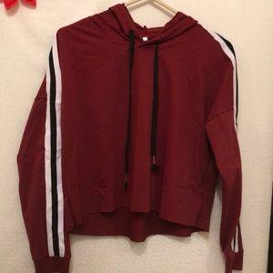 NWOT Long sleeve Cropped hoodie